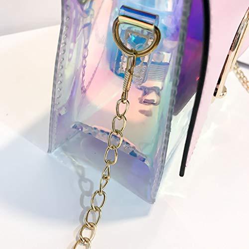 Paquete Cuadrado nbsp;bandolera Pequeño Pu Cuero Casual Popular Mujer Clásico Color Laser La Sólido Diseño Especial Simple Bolso Bolso Elegante Y Rosa Mano De Vintage yUq1AwcvxT