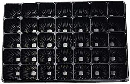 PAMPOLS Kit de 70 bandejas de germinación o semilleros de poliestireno rígido con 60 Celdas Cada Bandeja.