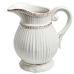 MyGift White Ceramic Vintage Style Frenc...
