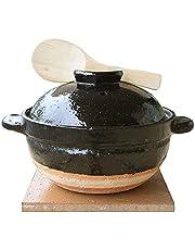 Iga Pottery Nagatanien Kamadosan Clay Rice Cooker direct heat stove only NCT-03, camping, outdoor