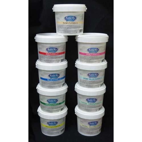 Satin Ice Rolled Fondant (Satin Ice Black/Vanilla Rolled Fondant, 5 lb Tub)