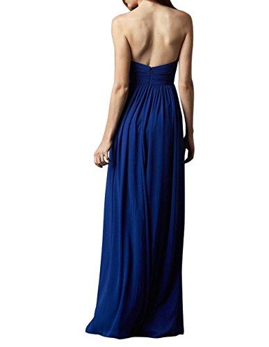 Elegant Partykleider Chiffon La Abschlussballkleider Braun Abendkleider mia Brau Herzausschnitt Lang Brautjungfernkleider qwCWxPZaOx