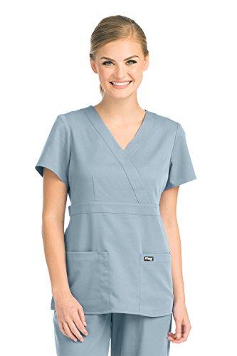 3160cdf5994 Grey's Anatomy 4153 Women's Mock Wrap Top Moonstruck 2XL. Maternity Uniform,  Maternity Uniform Scrubs