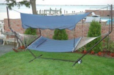 Bliss Hammocks HA-509BLU Canopy for Hammock Stand, Denim Blue