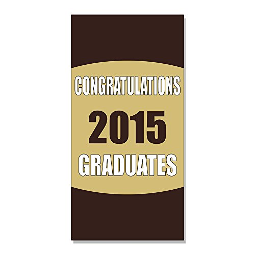 Congratulations Graduates Custom Year DECAL STICKER Retail Store Sign - 14.5 x 36 inches