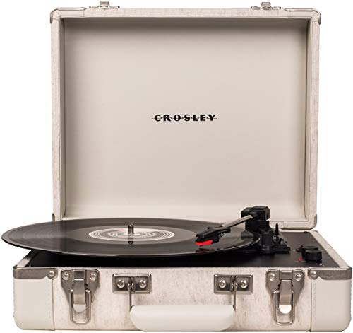 Crosley CR6019D-SA Executive Vintage Bluetooth 3-Speed Portable Suitcase Turntable with USB, Sand
