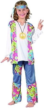 Disfraz hippie niña - 10-12 años: Amazon.es: Juguetes y juegos