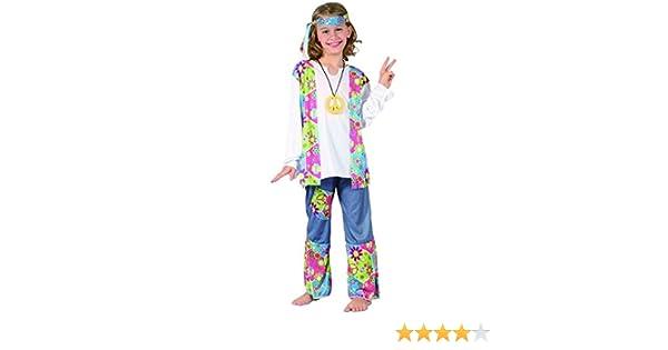 Disfraz hippie niña - 7 - 9 años: Amazon.es: Juguetes y juegos