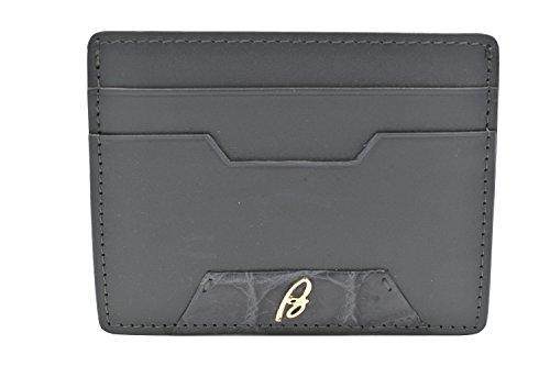 Brioni Card Gray Leather Men's Case Brioni Men's Gray Leather 4qE0xvRE