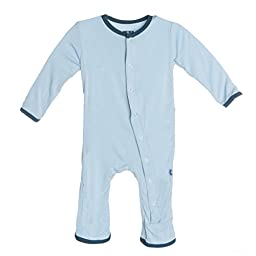 Kickee Pants Solid Coverall, Pond, 6-12 Months