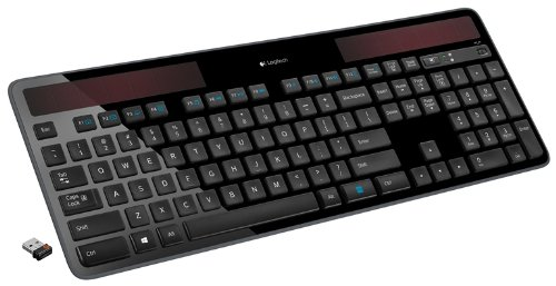 Logitech K750 Wireless Solar Keyboard for Windows Solar Recharging Keyboard 2.4GHz Wireless - Black by Logitech (Image #5)