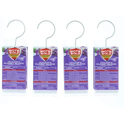 Moth Shield 4 Pk Closet Block Lavender ()