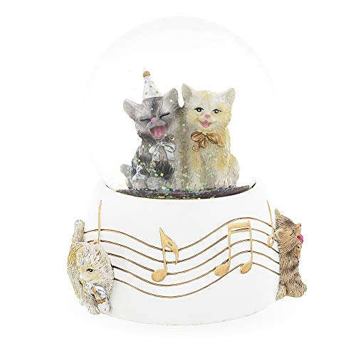 - BestPysanky Singing Cats Party Snow Globe