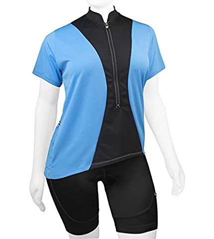 Plus Women's Full Figure Hourglass Jersey - Made in USA (2XL, Light Blue) - Plus Size Print Jersey