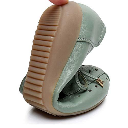 cómodas Calzan los Cuero Zapatos Cuero de Respirables Trabajo EU 34 FLYRCX Las de de Sandalias Las Planas Inferiores Suaves Huecos 35 señoras de UE OpwI7q