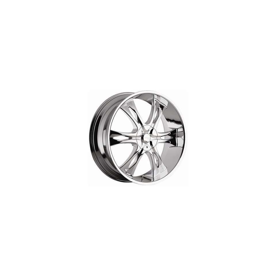 Incubus Nemesis 24x9 Chrome Wheel / Rim 6x5.5 with a 15mm Offset and a 107.95 Hub Bore. Partnumber 763249655+15C