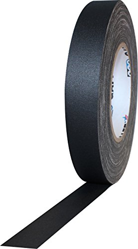 1 Width ProTapes Pro Gaff Premium Matte Cloth Gaffers Tape With Rubber Adhesive, 11 mils Thick, 55 yds Length, Black (Pack of 1)