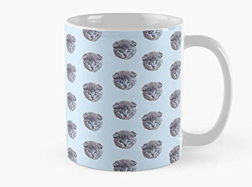 Scottish Fold Kitten Face Mug, Standard Mug Mug Co