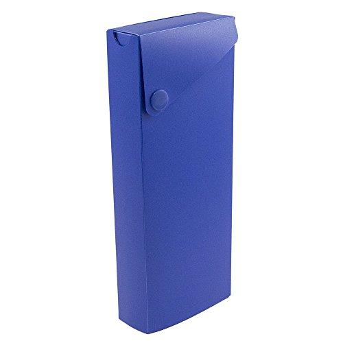JAM Paper Pencil Cases - Sliding Pencil Case with Button Sna