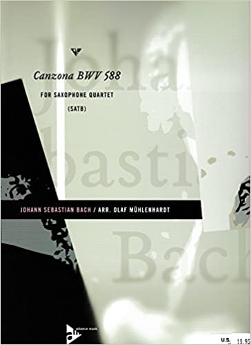 Ilmainen lataa eBook for iphone 3g Canzona BWV 588 for Saxophone Quartet by J.S. Bach FB2 B0104CST06