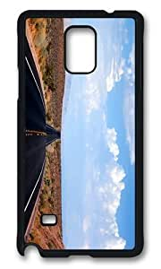 MOKSHOP Adorable desert road nevada Hard Case Protective Shell Cell Phone Cover For Samsung Galaxy Note 4 - PCB