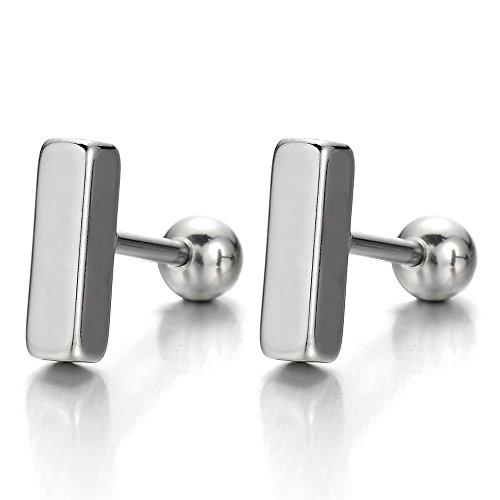 Stainless Steel Earrings Women Screw