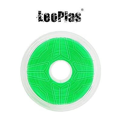 LeoPlas New Store USA Warehouse No Warping 1.75mm Transparent Translucent Green ABS Filament 8 Colors 1Kg 2.2 Pounds FDM 3D Printer Pen Supplies Plastic Printing Material