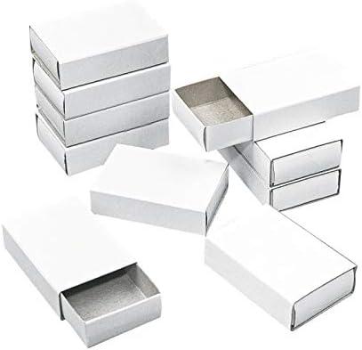 12 cajas de cerillas de cartón (color blanco, 5,3 x 3,6 x 1,5 cm ...