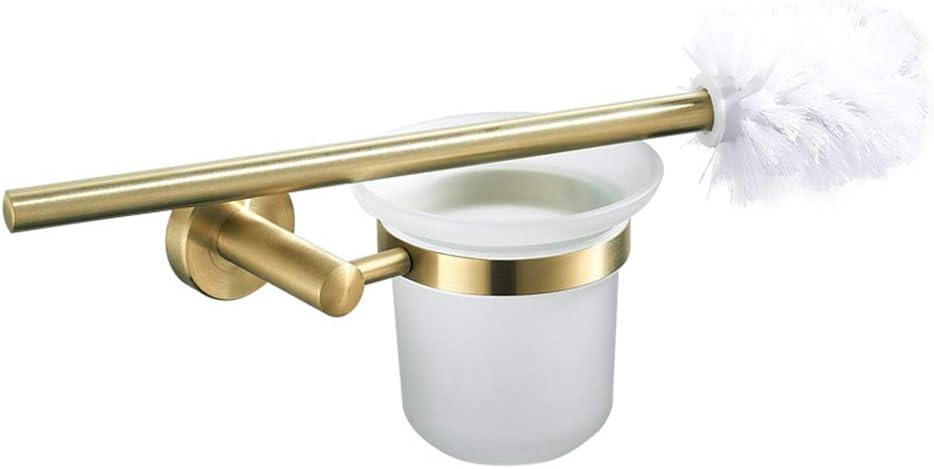 dorado escobilla wc,Escobilla de ba/ño de oro pulido de acero inoxidable juego de escobillas de inodoro