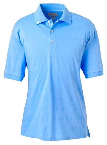Ashworth Knit Shirt (Ashworth 2013 Men's EZ-Tech Jersey Textured Stripe Polo-Short Sleeve)