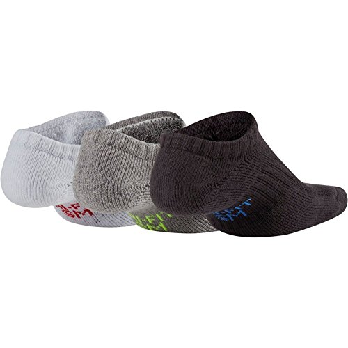 Calcetines Nike �?Performance Cushioned No-Show Training (3 Pair) negro/gris/blanco talla: 38 al 42 EU I 6-9 USA I 5-8 UK