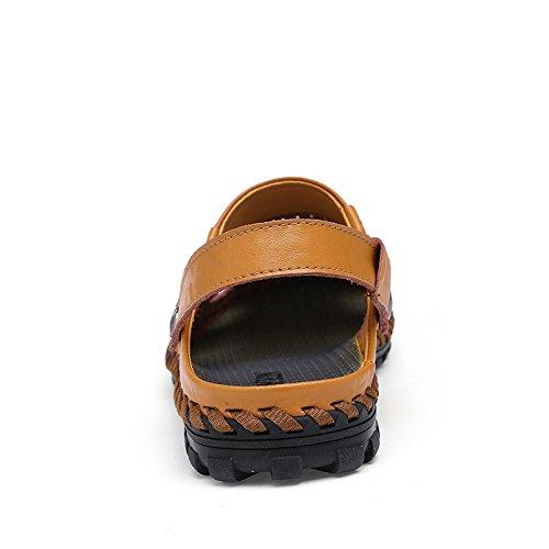 Pantofole Nero Bluelover Pelle Uomini Blu 9 Beach Durevole Casual Estate In Cava Light Sandali Weight Traspirante Soft nXXSwraqH