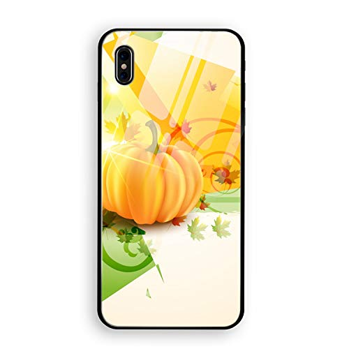 Halloween Background Phone X Cover Case, Tempered Glass Protective Shell Ultra-Thin Cover Case for Phone X Slim Fit