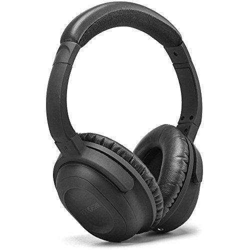 Active Noise Cancelling Kopfhörer mit Lautstärkeregler Stereo Over Ear Sport-Kopfhörer Wired Kopfhörer für IOS, Andorid handys, Tablets, tragbare Musik-Player, Laptop, PC (Schwarz)