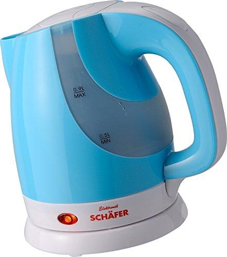 Schäfer 0,9 Liter kabelloser Wasserkocher - Mini-Wasserkocher (Grau)