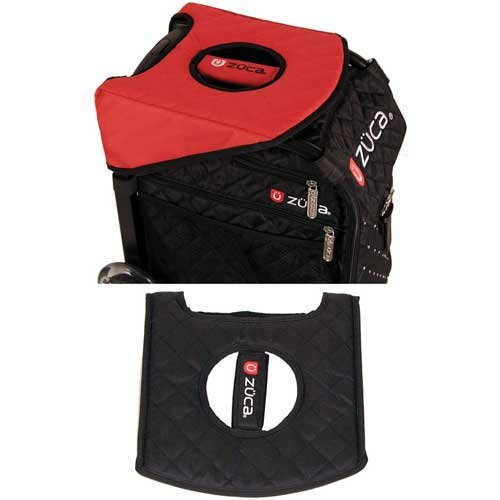Zuca Seat Cushion, Black/Red - 10.50 x 10.50
