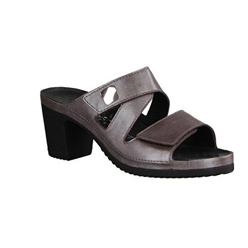 Vital 5103-2196 - Zapatos mujer Zapato abierto / Chanclas de dedo, Marrón, cuero (legañosos), altura de tacón: 50 mm