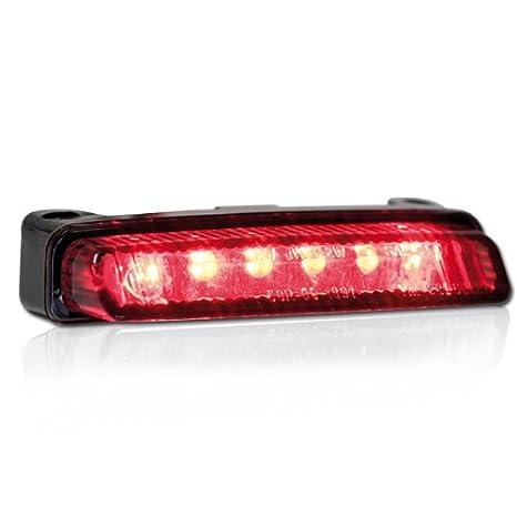 E-gepr/üft get/önt Brems-/& R/ücklicht Motorrad LED R/ücklicht Blade ohne KZB L=78mm x H=16mm x T=32mm