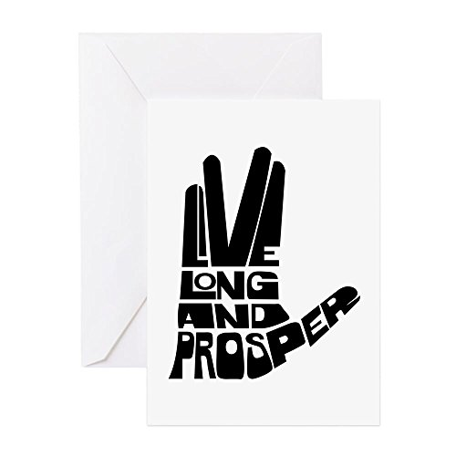 CafePress Live Long And Prosper Greeting Card, Note Card, Birthday Card, Blank Inside Matte -
