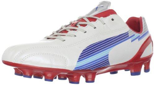 Puma Mens Evospeed 1 K Fg Tacchetta Da Calcio Bianco / Limoges / Nastro Rosso