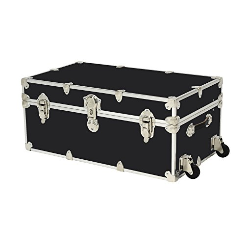 armored storage trunk with wheels