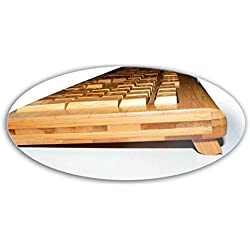 Impecca KBB500C 100% Bamboo Handcrafted Keyboard & Mouse Combo