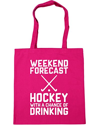 Weekend Fuchsia Drinking Chance With litres Shopping x38cm Gym Tote HippoWarehouse Forecast Hockey 10 42cm Beach Bag a of dp0n0wTxaW