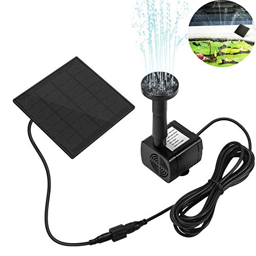 200L H DC 7V Solar Water Pump Solar Fountain Garden Miniature Floating Fountain Solar Direct Drive Water Pump