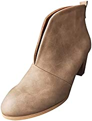 Gyouanime Heeled Booties for Womens Autumn 2021 Fashion Chunky high Heels for Ladies Dress Shoes Elegant Point