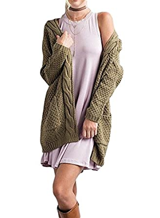 Imily Bela Women's Boho Long Sleeve Open Front Chunky Warm ...