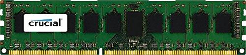 Crucial 4GB Single DDR3/DDR3L-1600 MT/s (PC3-12800) DR x8 RDIMM 240-Pin Server Memory CT4G3ERSLD8160B