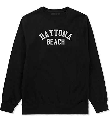 Daytona Beach Florida Crewneck Sweatshirt Large Black