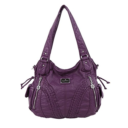 Purple Leather Handbag - 7
