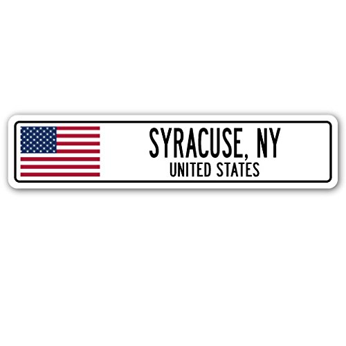 Ny Street Sign (SYRACUSE, NY, UNITED STATES Street Sign American flag city country gift)